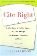 Cite Right: a Quick Guide to Cite Styles Image