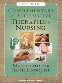 """Picture of book cover for """"Complementary & Alternative Therapies on Nursing"""""""