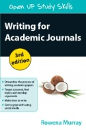 Image of cover to, Writing for Academic Journals, that links out to eBook resource.