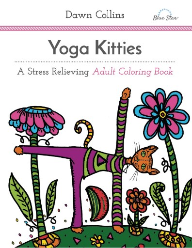 Yoga Kitties: A Stress Relieving Adult Coloring Book Magazine Subscriptions