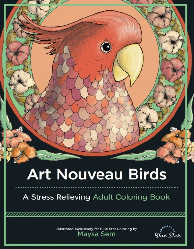 Art Nouveau Birds: A Stress Relieving Adult Coloring Book Magazine Subscriptions