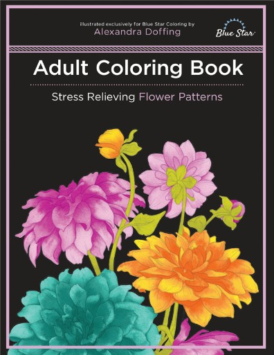 Adult Coloring Book: Stress Relieving Flower Patterns Magazine Subscriptions