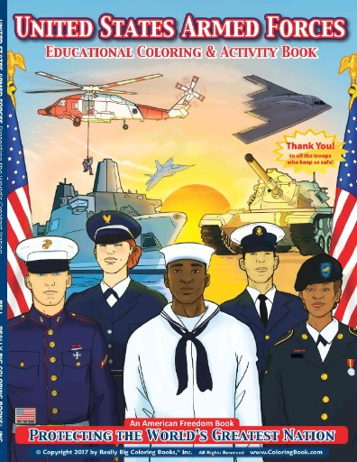 United States Armed Forces Coloring & Activity Book Magazine Subscriptions