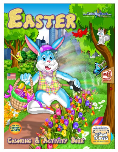 Easter Cottontail Coloring Book with song Magazine Subscriptions