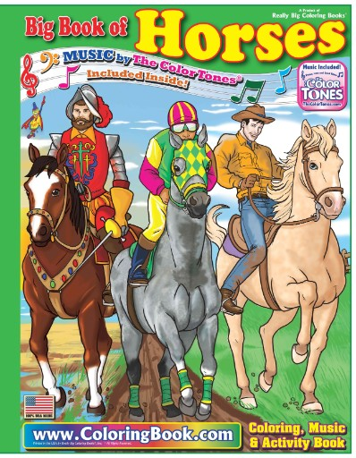 Horses Really Big Coloring Book Magazine Subscriptions