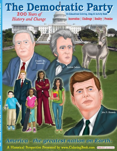 Democratic Party: 200 Years of History & Change Coloring & Activity Book Magazine Subscriptions