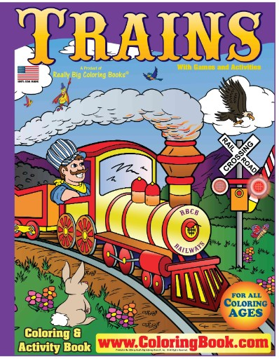 Trains Really Big Coloring Book Magazine Subscriptions