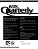 MIS Quarterly Magazine Subscriptions