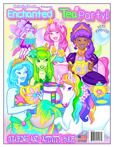 Enchanted Tea Party with Friends Coloring Book Magazine Subscriptions