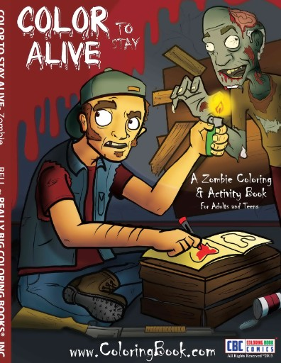 Color to stay Alive A Zombie Coloring & Activity Book Magazine Subscriptions