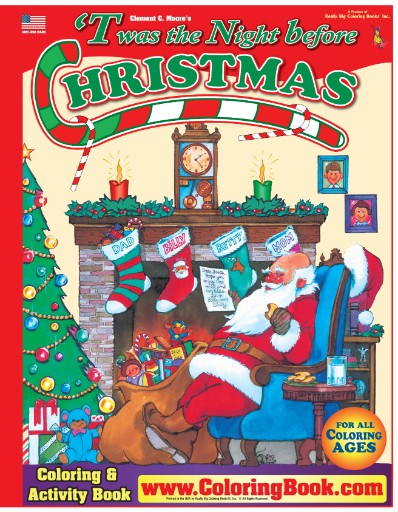 Twas the Night Before Christmas Really Big Coloring Book Magazine Subscriptions