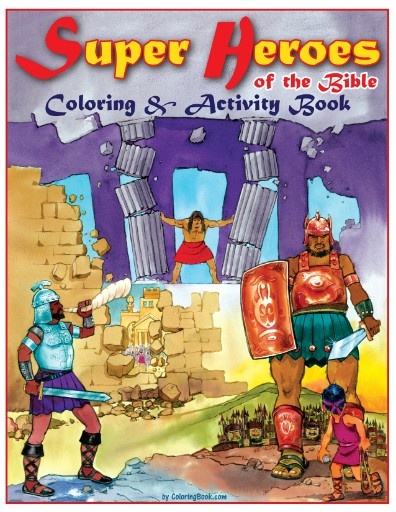Super Heroes of the Bible Really Big Coloring Book | Digital ...