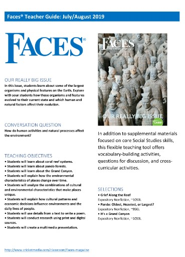Faces Teacher's Guide Magazine Subscriptions