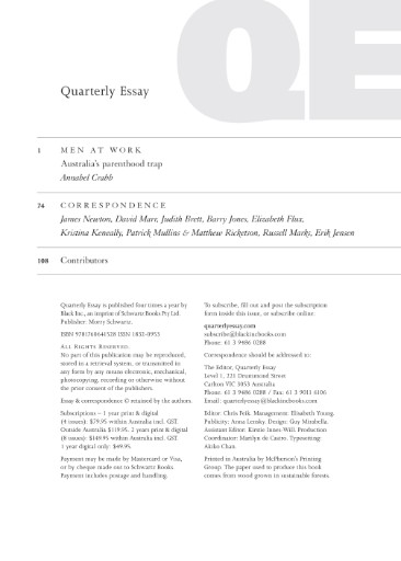 The Quarterly Essay Magazine Subscriptions