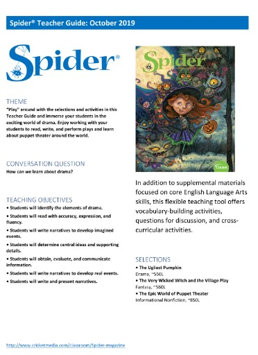 Spider Teacher's Guide Magazine Subscriptions