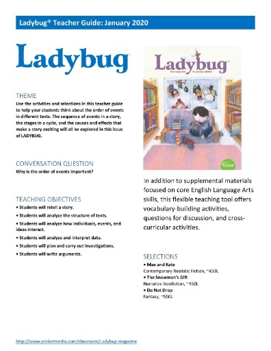 Ladybug Teacher's Guide Magazine Subscriptions