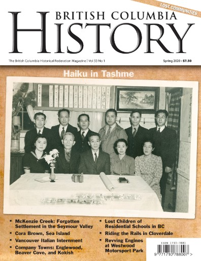 British Columbia History Magazine Subscriptions