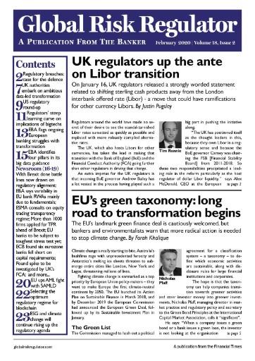Global Risk Regulator Magazine Subscriptions
