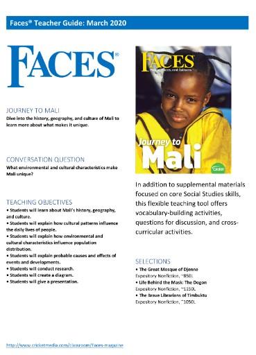 Faces Teacher's Guide Magazine Subscriptions