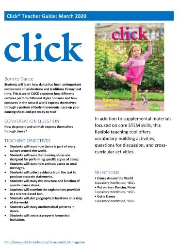 Click Teacher's Guide Magazine Subscriptions