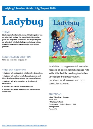 Ladybug Teacher's Guide Magazine Subscriptions
