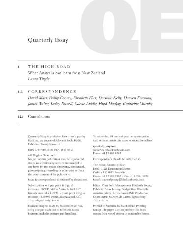 The Quarterly Essay Magazine Subscriptions
