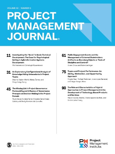Project Management Journal Magazine Subscriptions