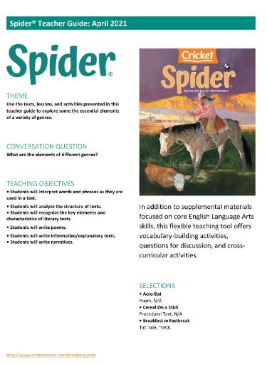 Spider Teacher's Guide Magazine Subscriptions