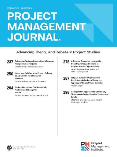 Project Management Journal Magazine Subscriptions