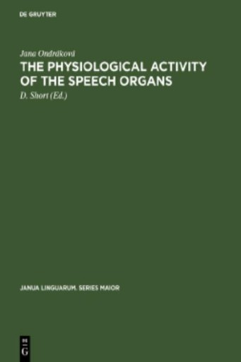 The Physiological Activity of the Speech Organs : An Analysis of the Speech-organs During the Phonation of Sung, Spoken and Whispered Czech Vowels on the Basis of X-ray Methods