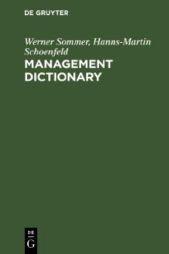 Management Dictionary : English-German