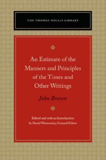 An Estimate of the Manners and Principles of the Times and Other Writings