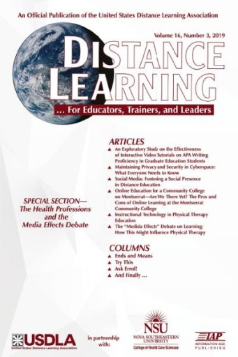 Distance Learning: Volume 16 #3